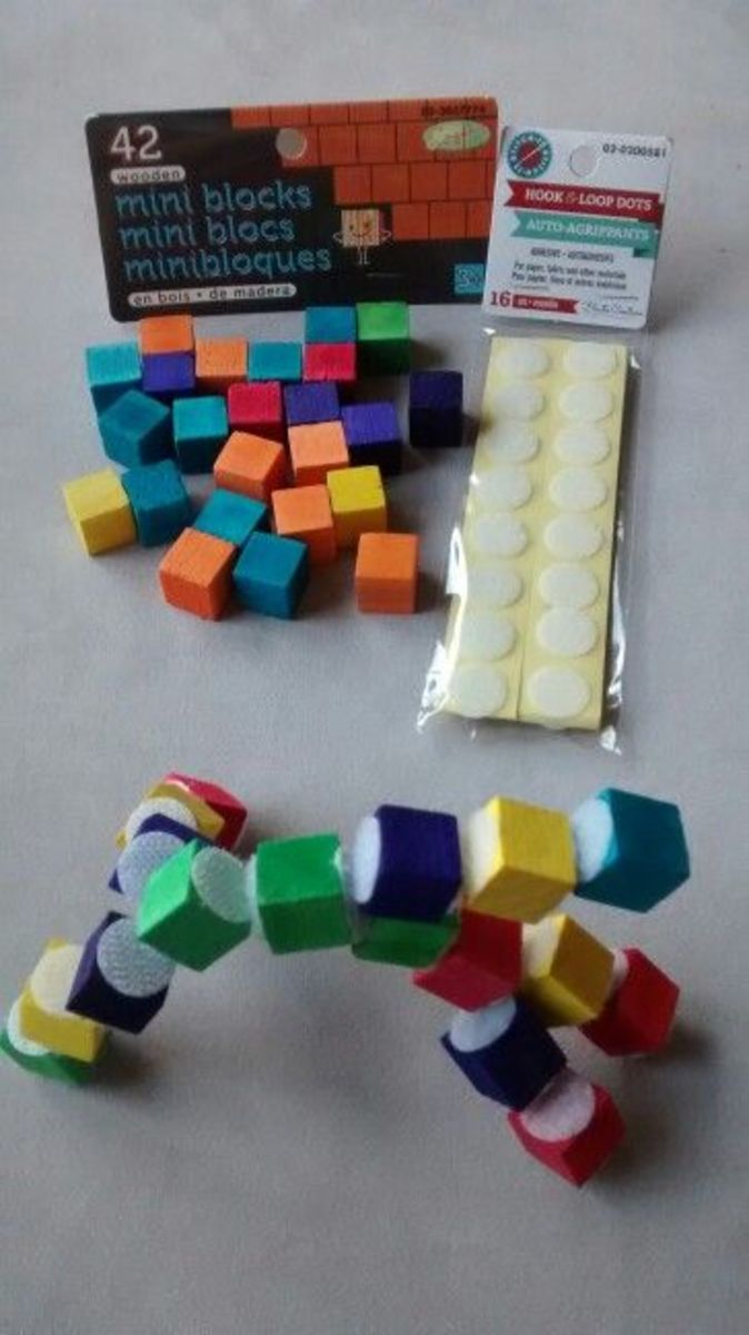 Velcro lego blocks.