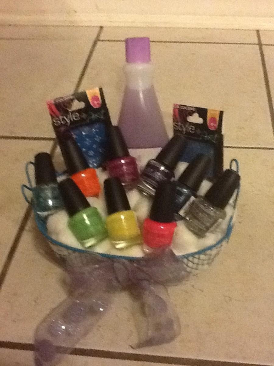 Nail polish gift bag.