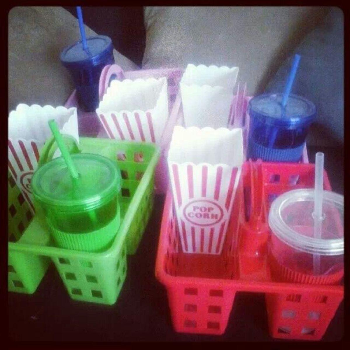 DIY movie treat trays.