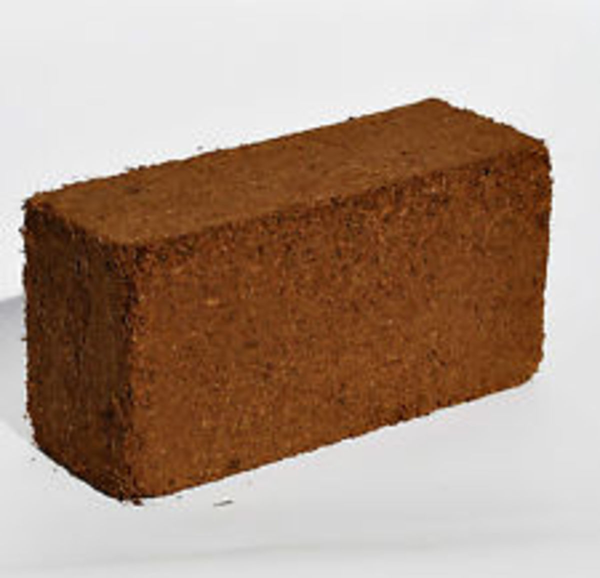 Coir substrate usually comes in the form of a brick.