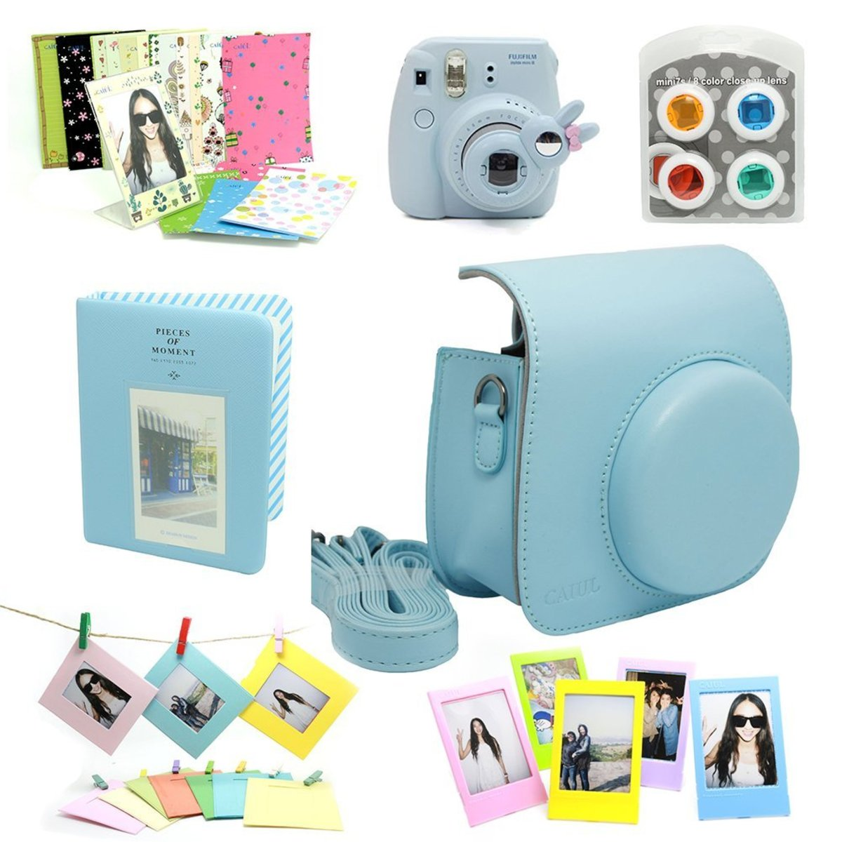 Fujifilm Instax Mini 8 Instant Film Camera Accessory Bundle