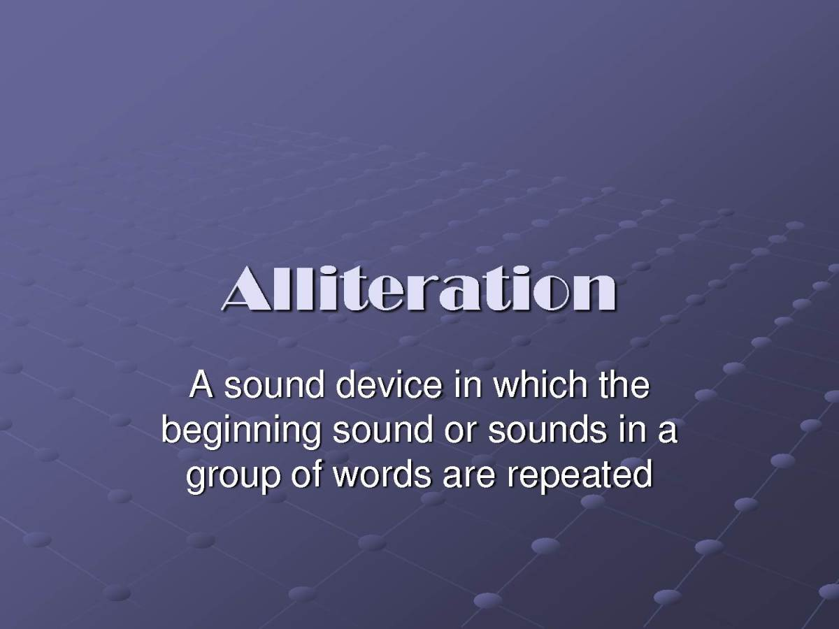 Alliteration Definition And Examples With Pictures Hubpages