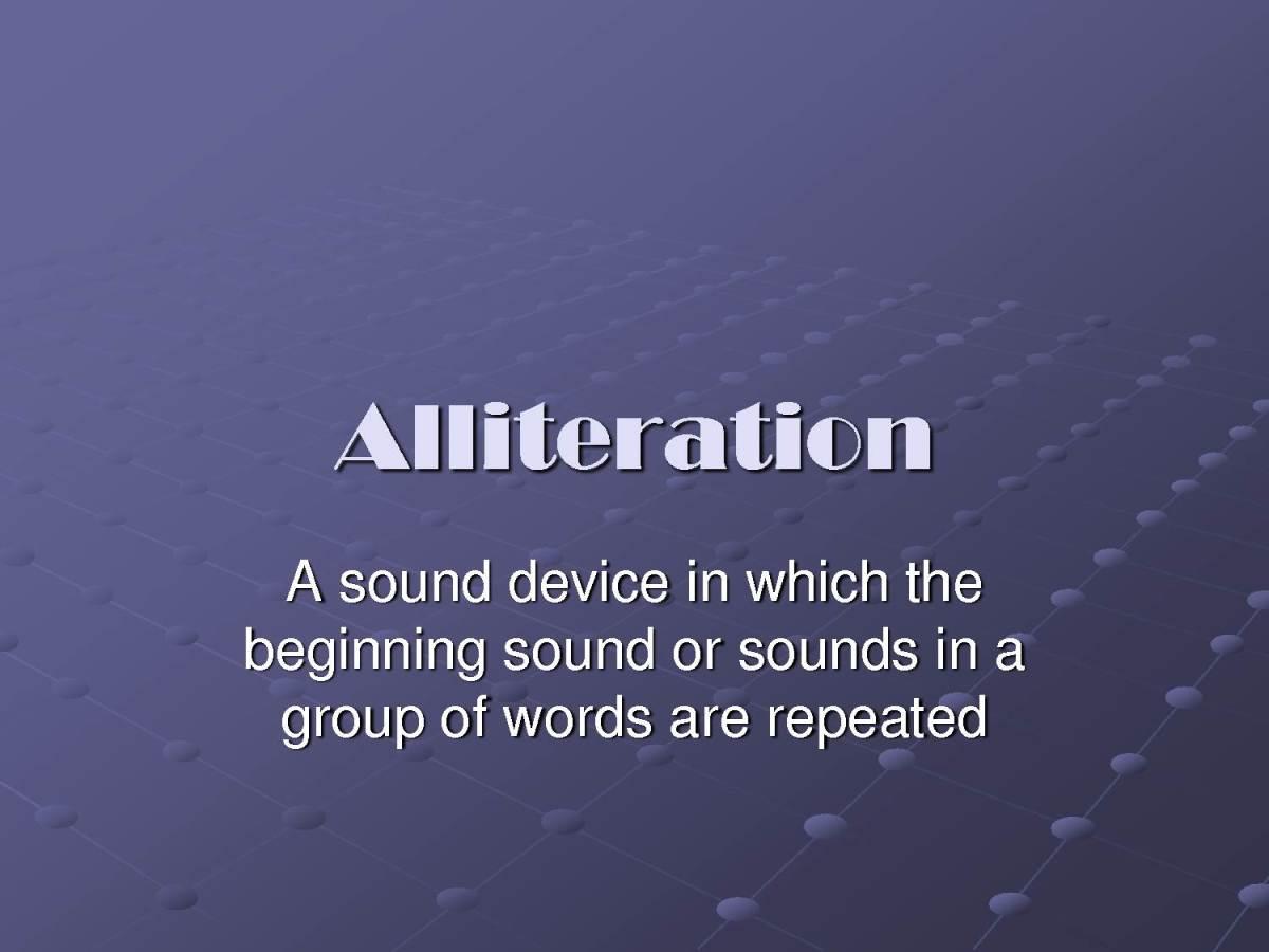 Alliteration's Definition