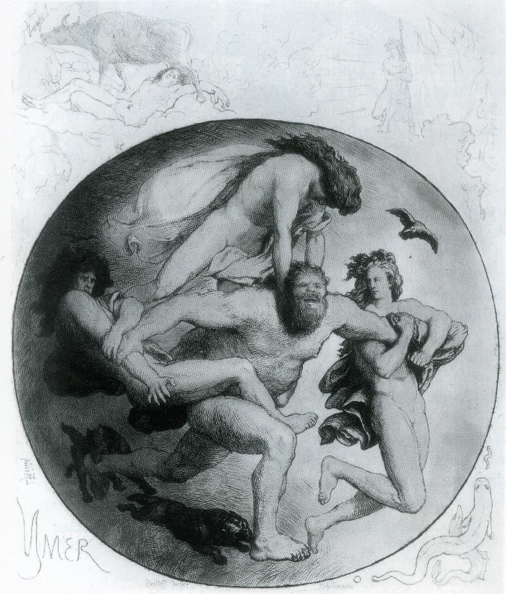 death of Ymir by Odin by Lorenz Frølich
