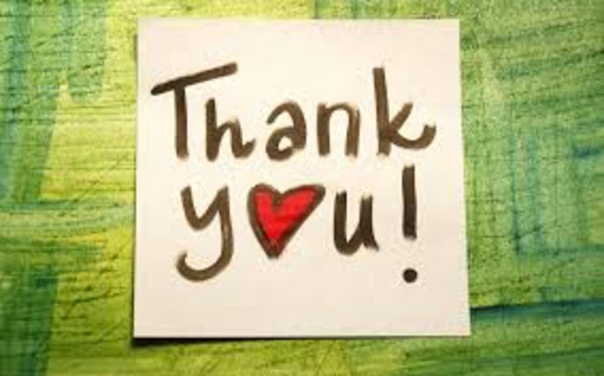 Thank-you notes show sincere appreciation.