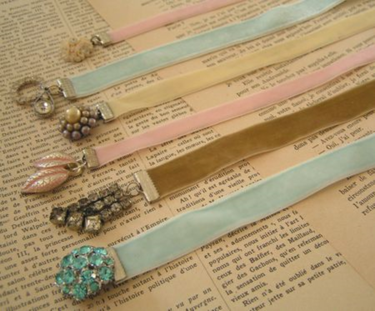 These bookmarks are easy to make with ribbon clamps , some ribbon and some  embellishments