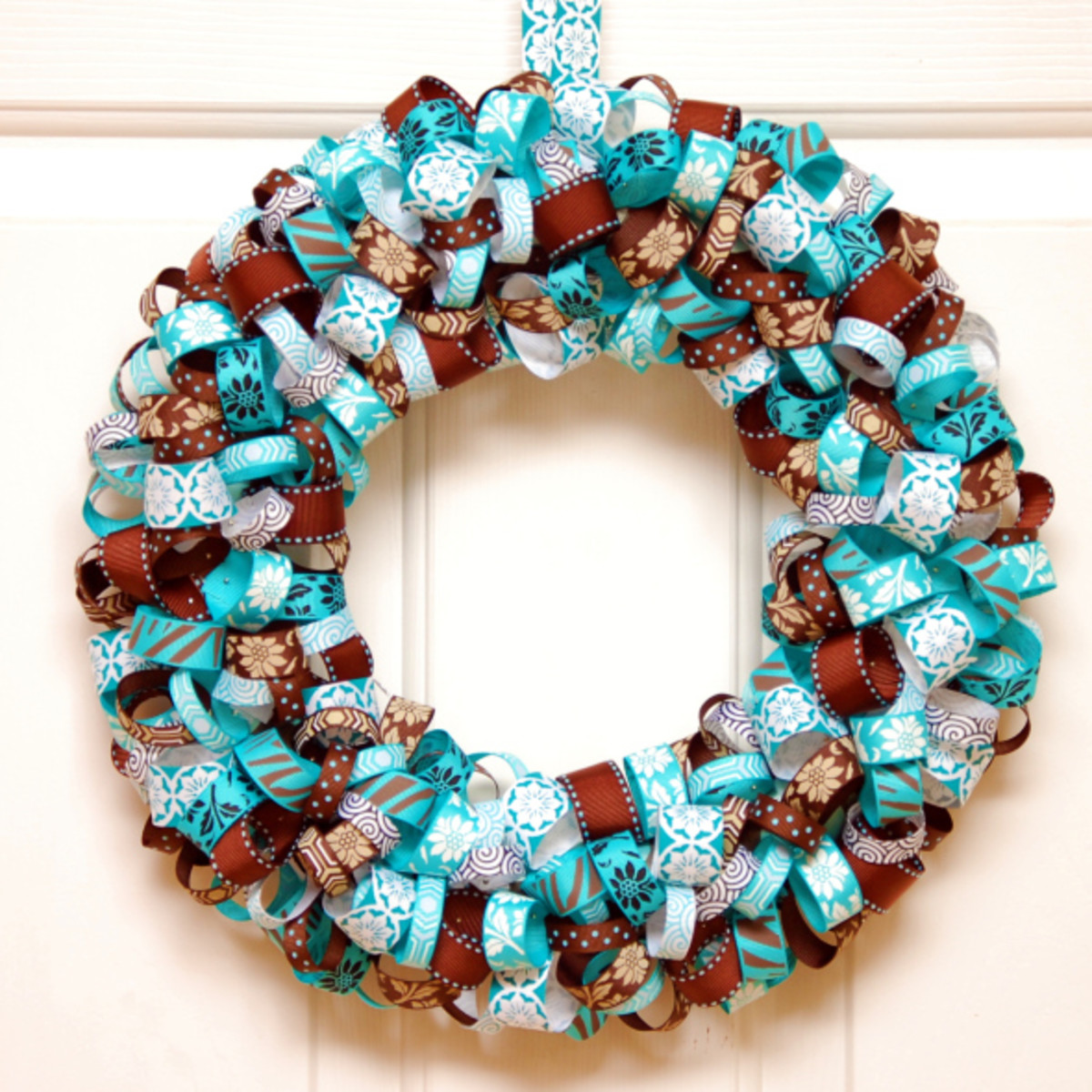 Ribbon wreaths can be made with seasonal, color and occasion themes
