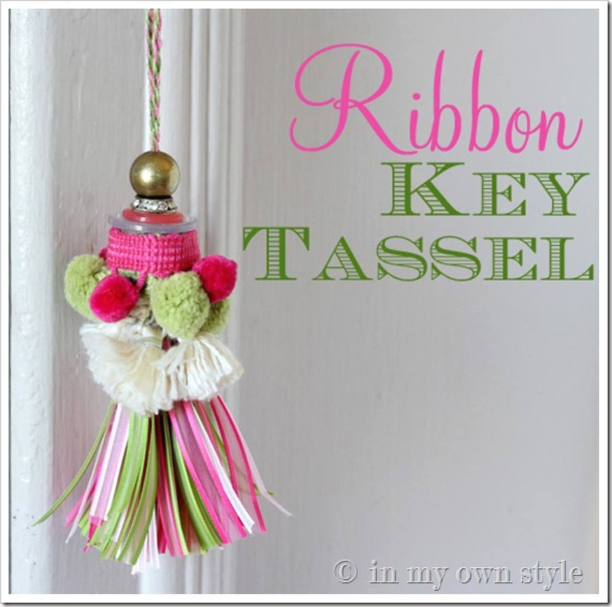 You can use ribbon scraps to make this delightful ribbon tassels. You can also use this same idea for a pull chain for a bedroom fan.