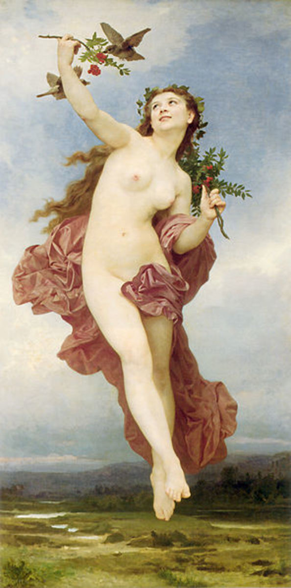 Hemera Greek Goddess of the Day - William-Adolphe Bouguereau (1825-1905) - PD-art-100