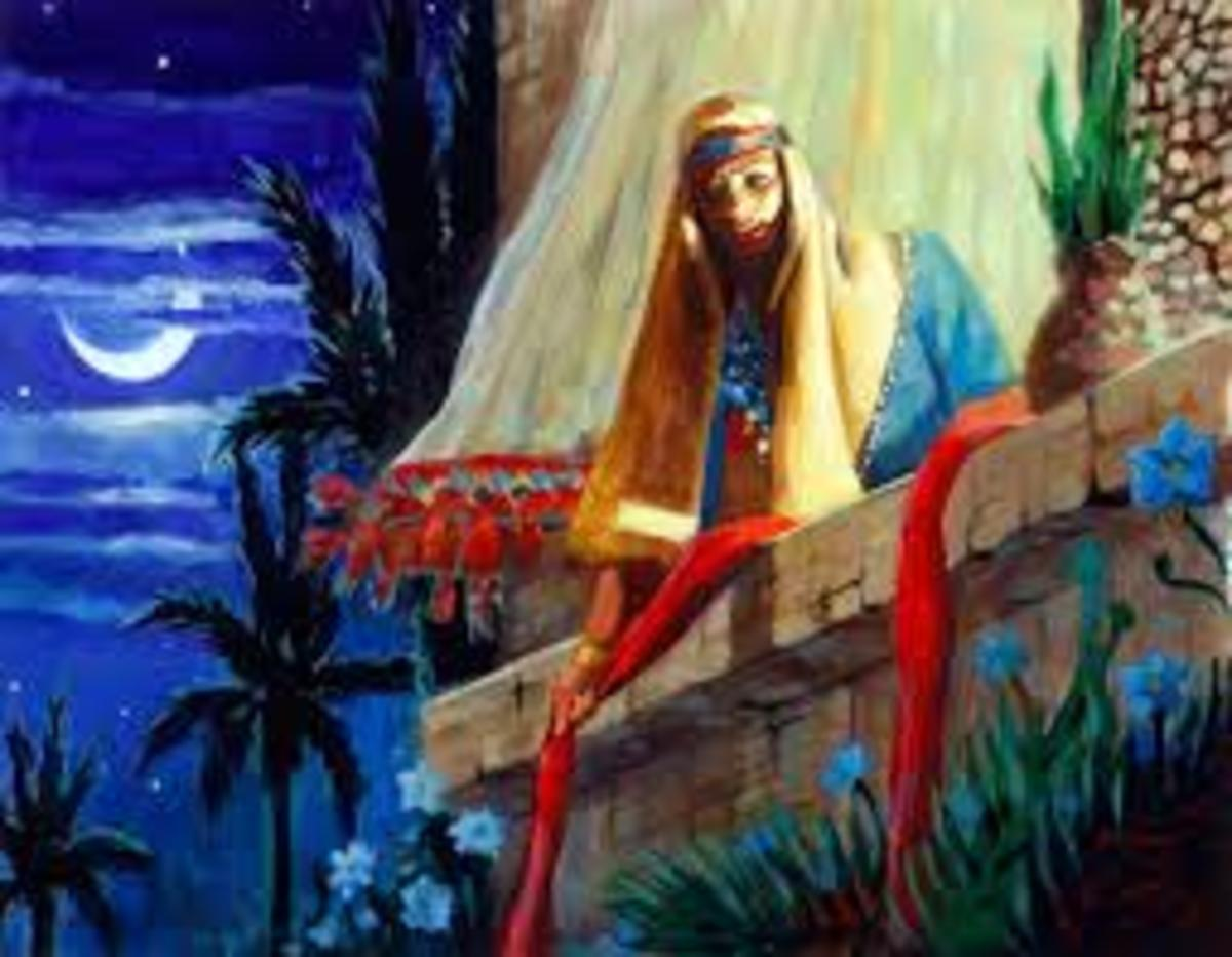 A prostitute named Rahab began to believe in the God of Abraham. When she hid the spies sent from Joshua, she gained the salvation of her whole family.
