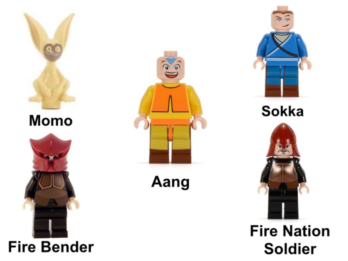 LEGO Avatar: The Last Airbender Air Temple 3828 Minifigures
