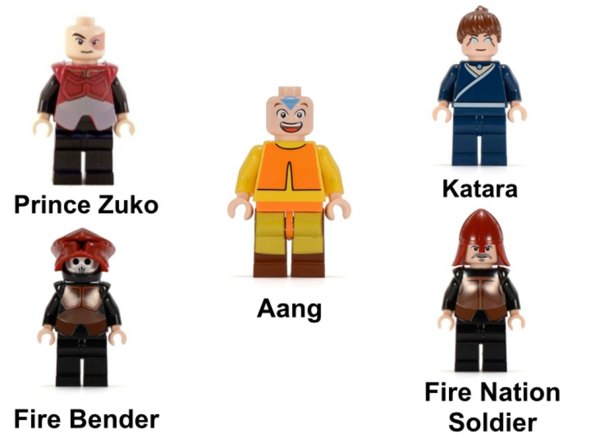 LEGO Avatar: The Last Airbender Fire Nation Ship 3829 Minifigures