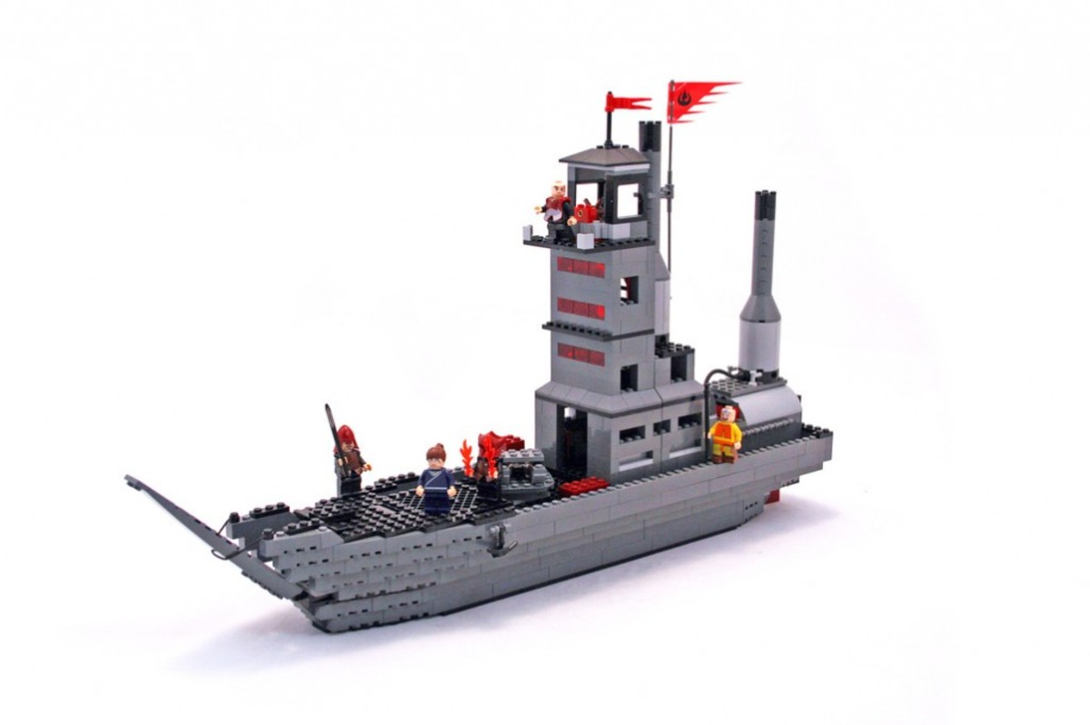 LEGO Avatar: The Last Airbender Fire Nation Ship 3829 Assembled