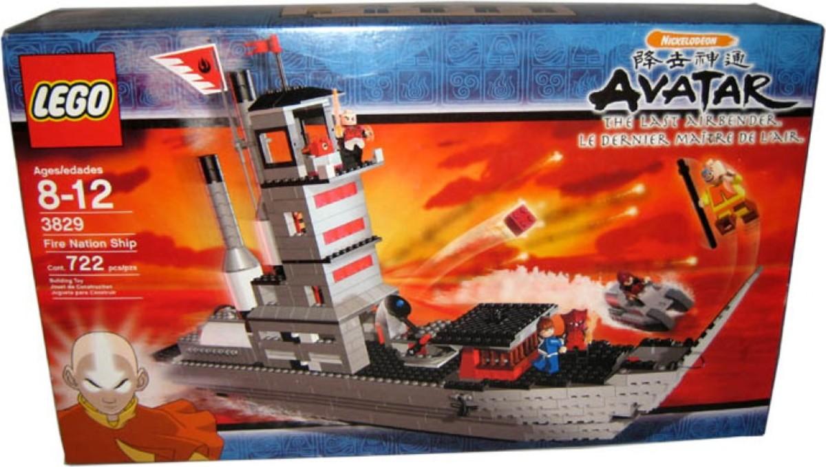 LEGO Avatar: The Last Airbender Fire Nation Ship 3829 Box