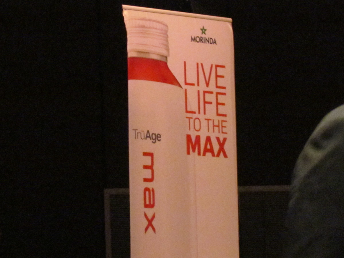 Live Life to the Max based on the TruAge product that was featured at this Health Awareness event.