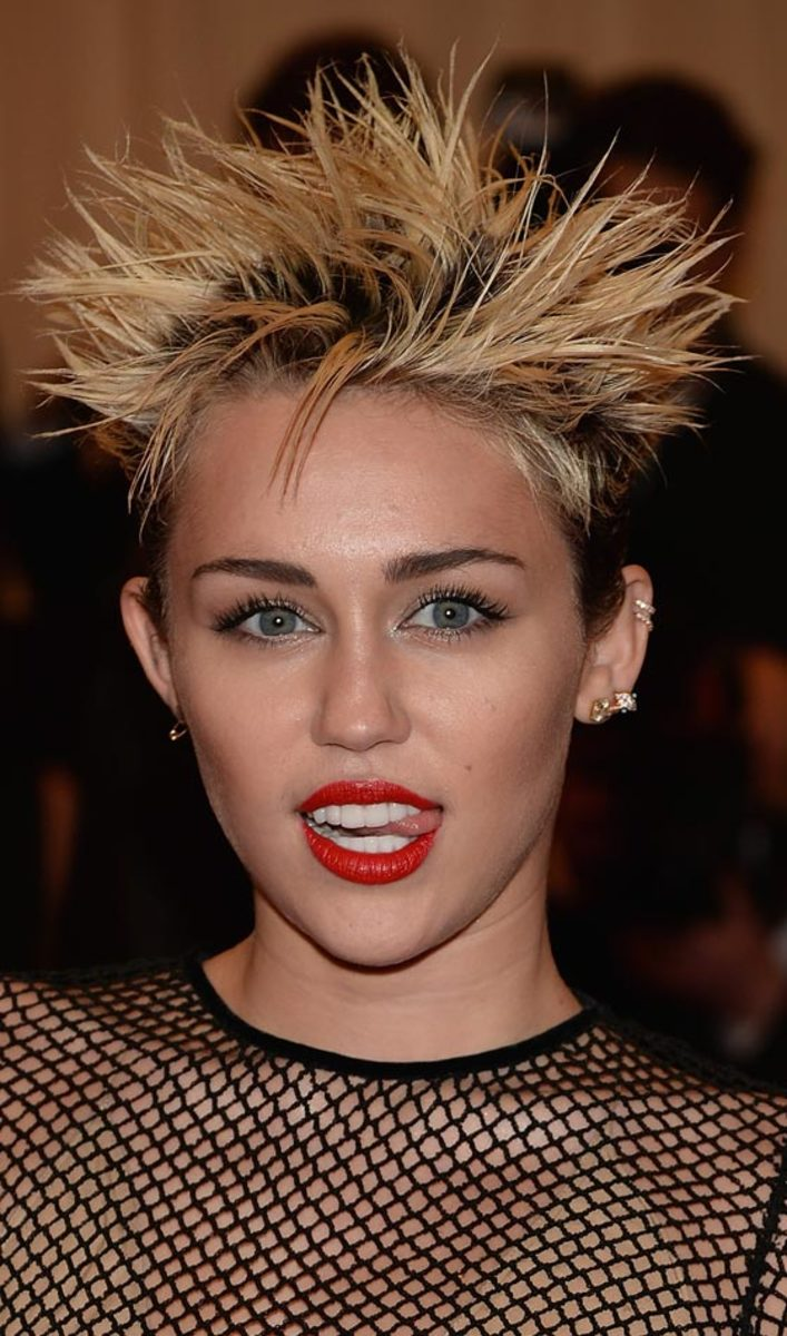 Miley Cyrus punk rock spiky haircuts
