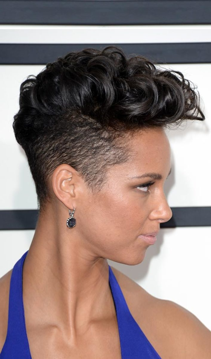 wavy mohawk - short punk hairstyles for 2015