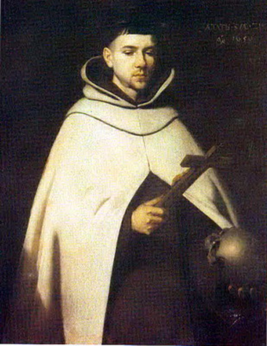Saint John of the Cross, major figure of the Counter-Reformation, a Spanish mystic, a Roman Catholic saint, a Carmelite friar and a priest and a Doctor of the Church - painting by Francisco de Zurbarán, 1656