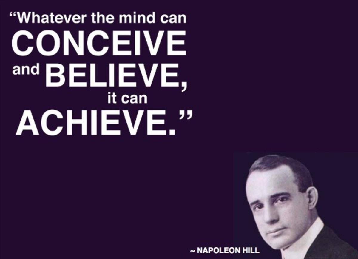 Napolean Hill quote from the classic ''Think and grow rich''.