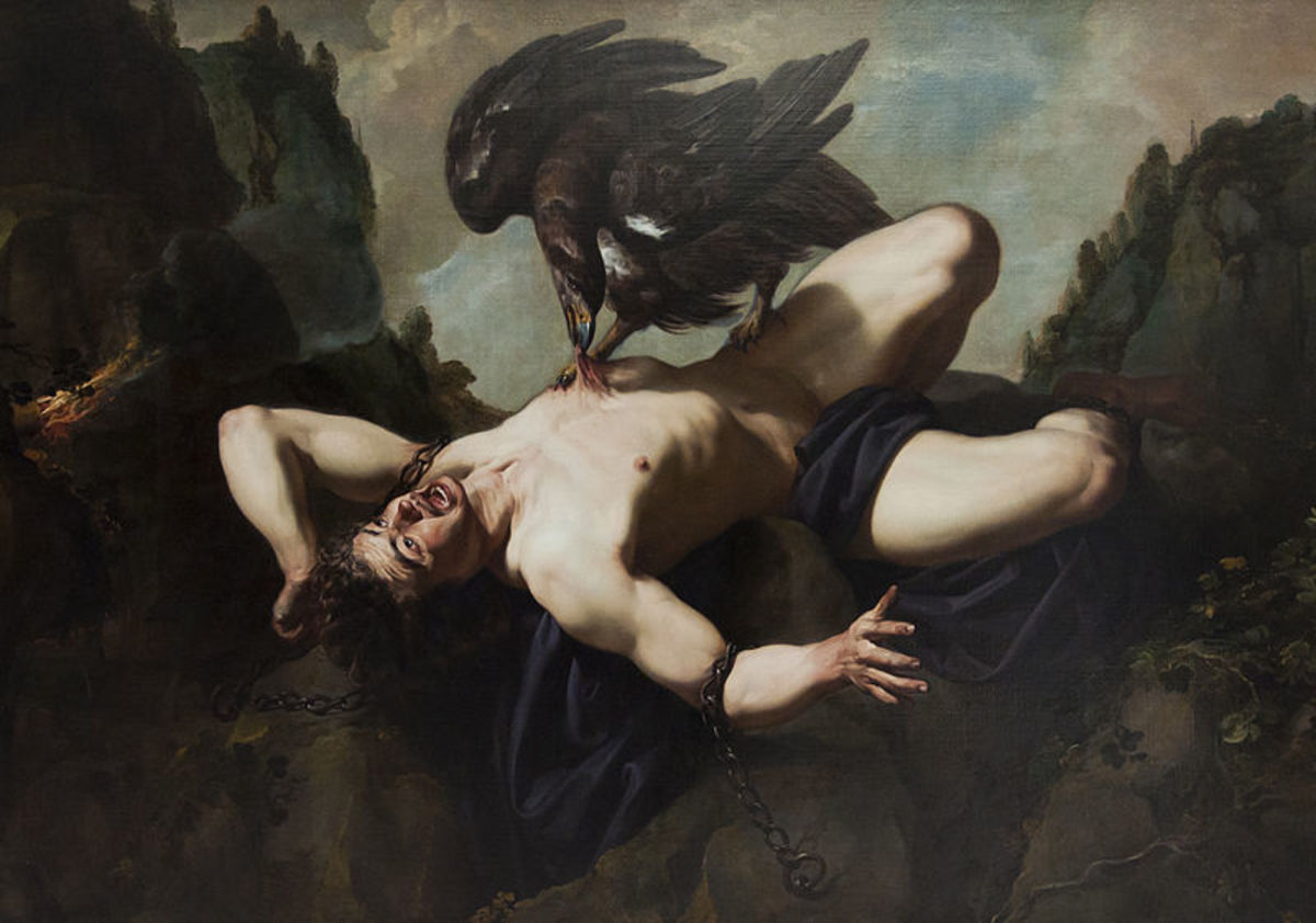 Heracles and the Caucasian Eagle in Greek Mythology