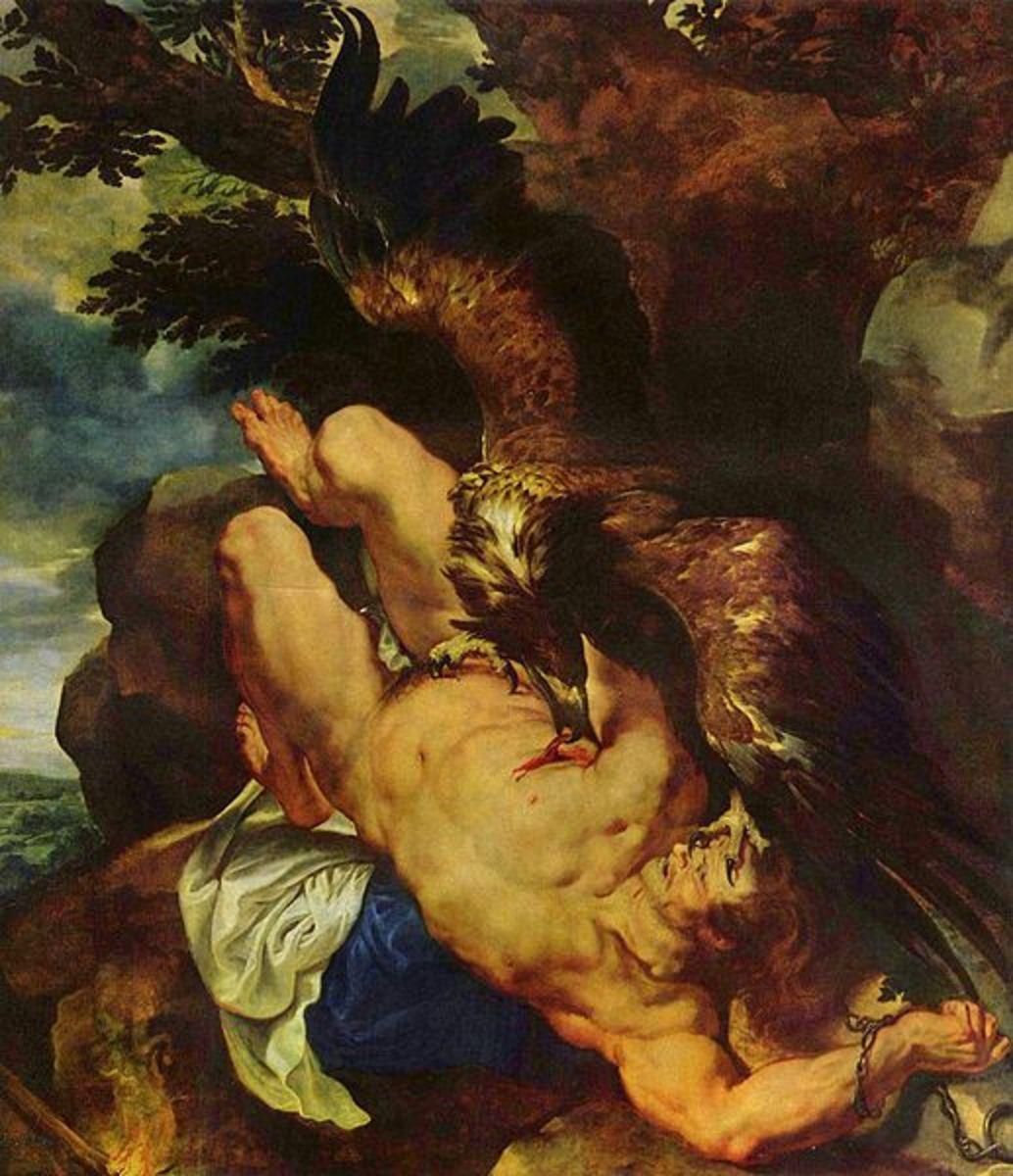 Prometheus and the Caucasian Eagle - Peter Paul Rubens (1577–1640) - PD-art-100