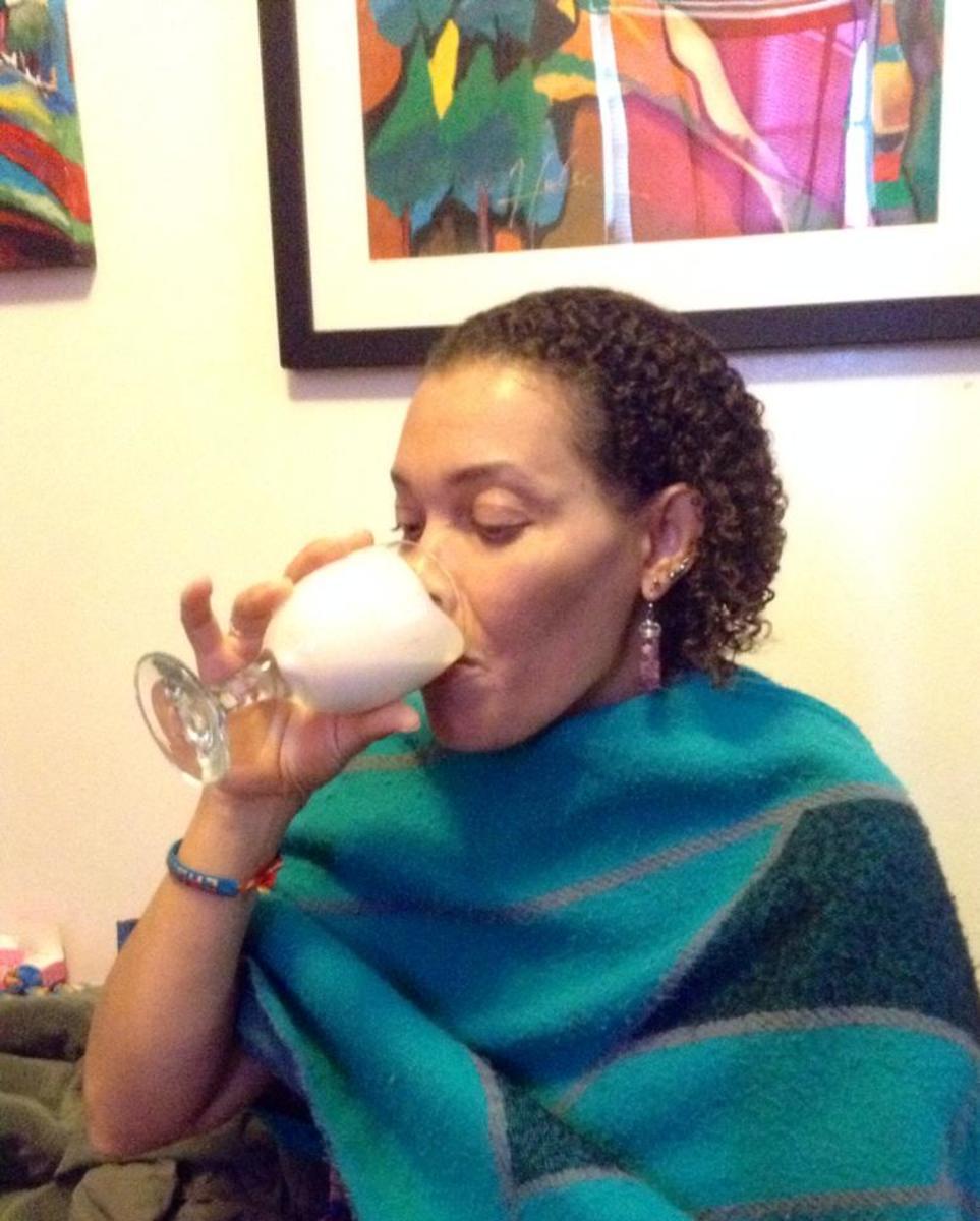 Drinking kefir