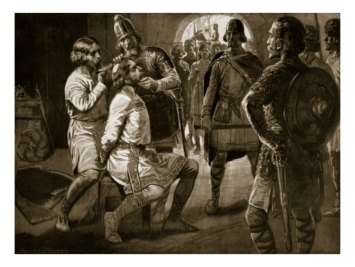 'Monkish' Ceolwulf is taken and forcibly tonsured - the crown of his head shaved in the manner of a monk