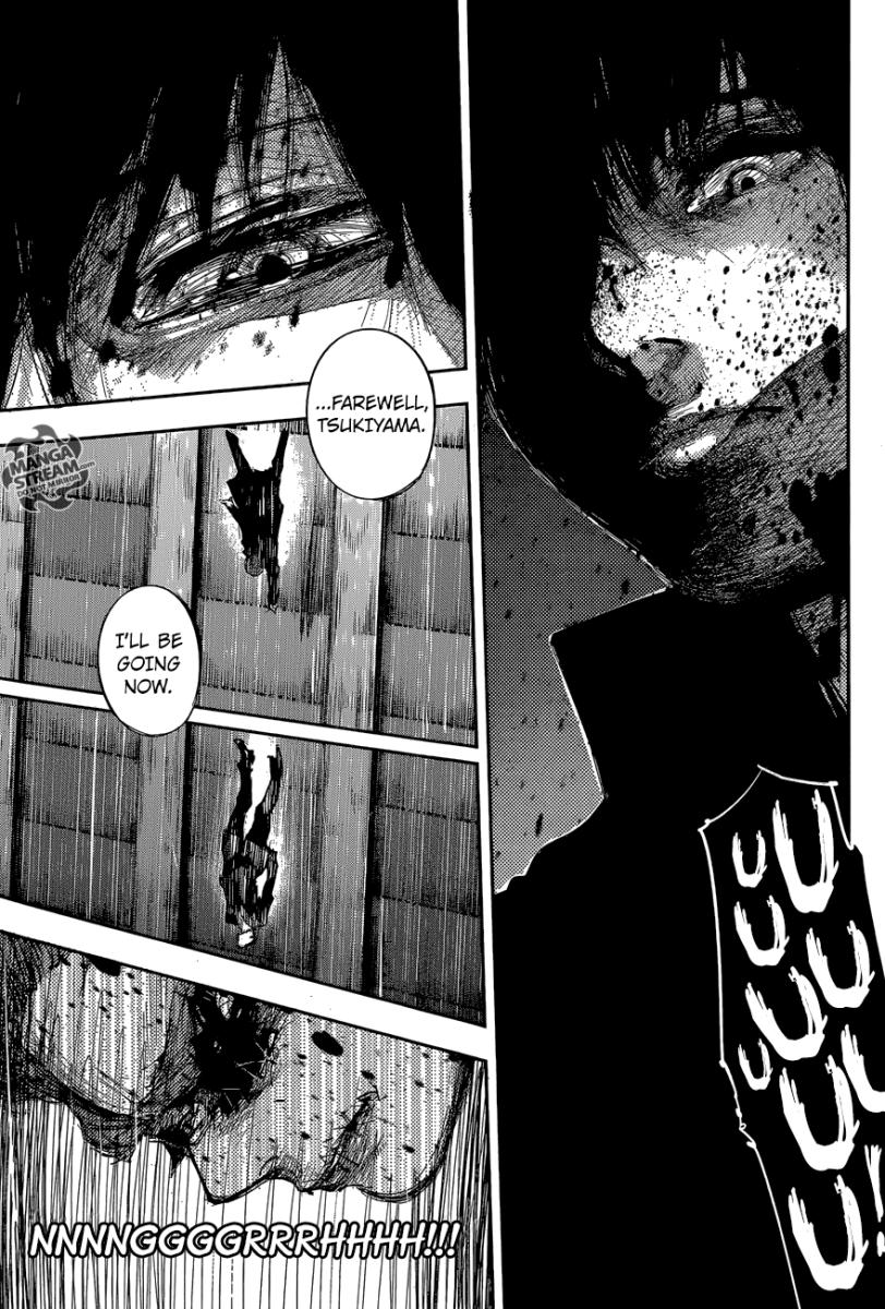 Kaneki saying his farewell to Tsukiyama.