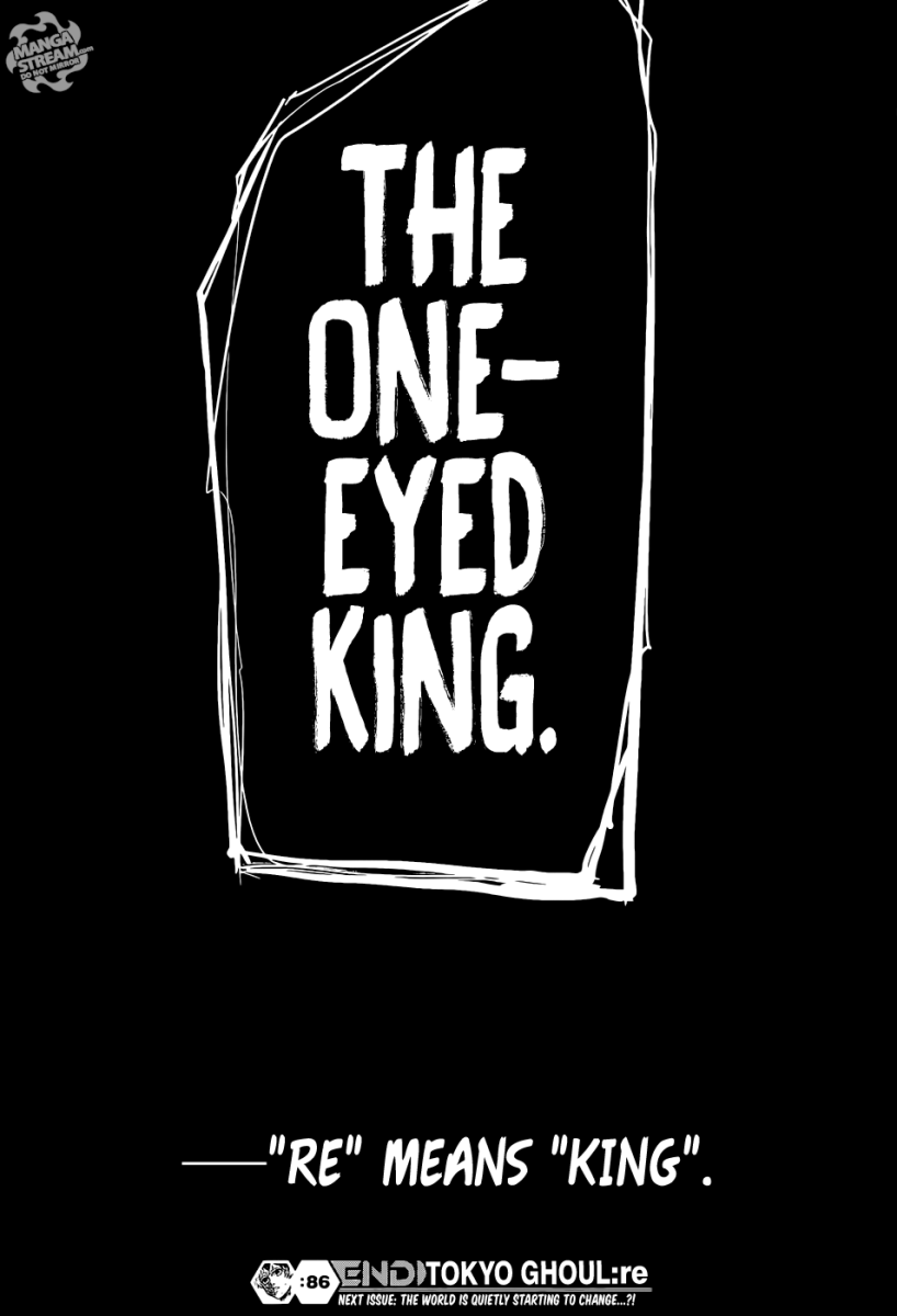 Kaneki declaring that he is the One-Eyed King.