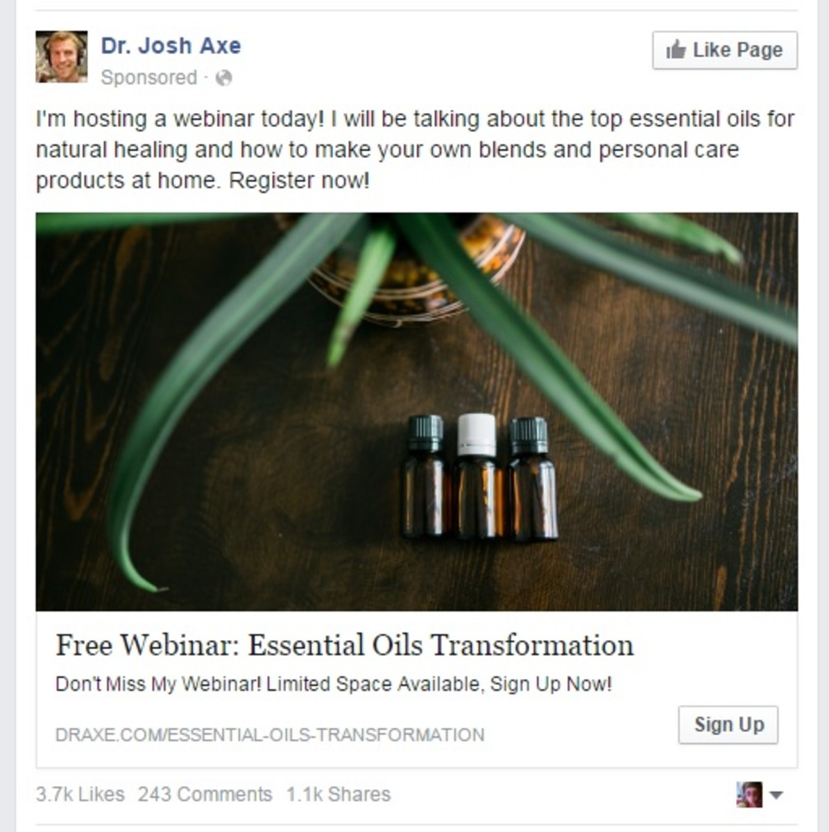 A Review of Dr. Axe's Essential Oil Webinar