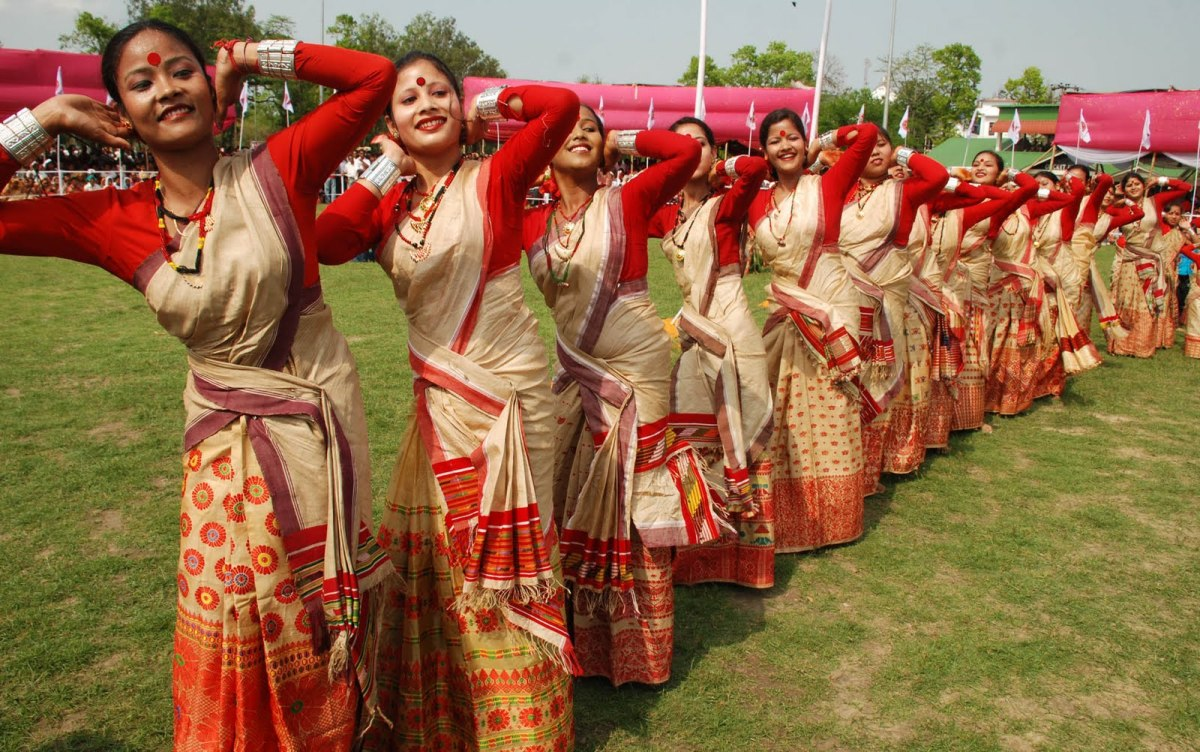 Traditional Bihu dance of Assam