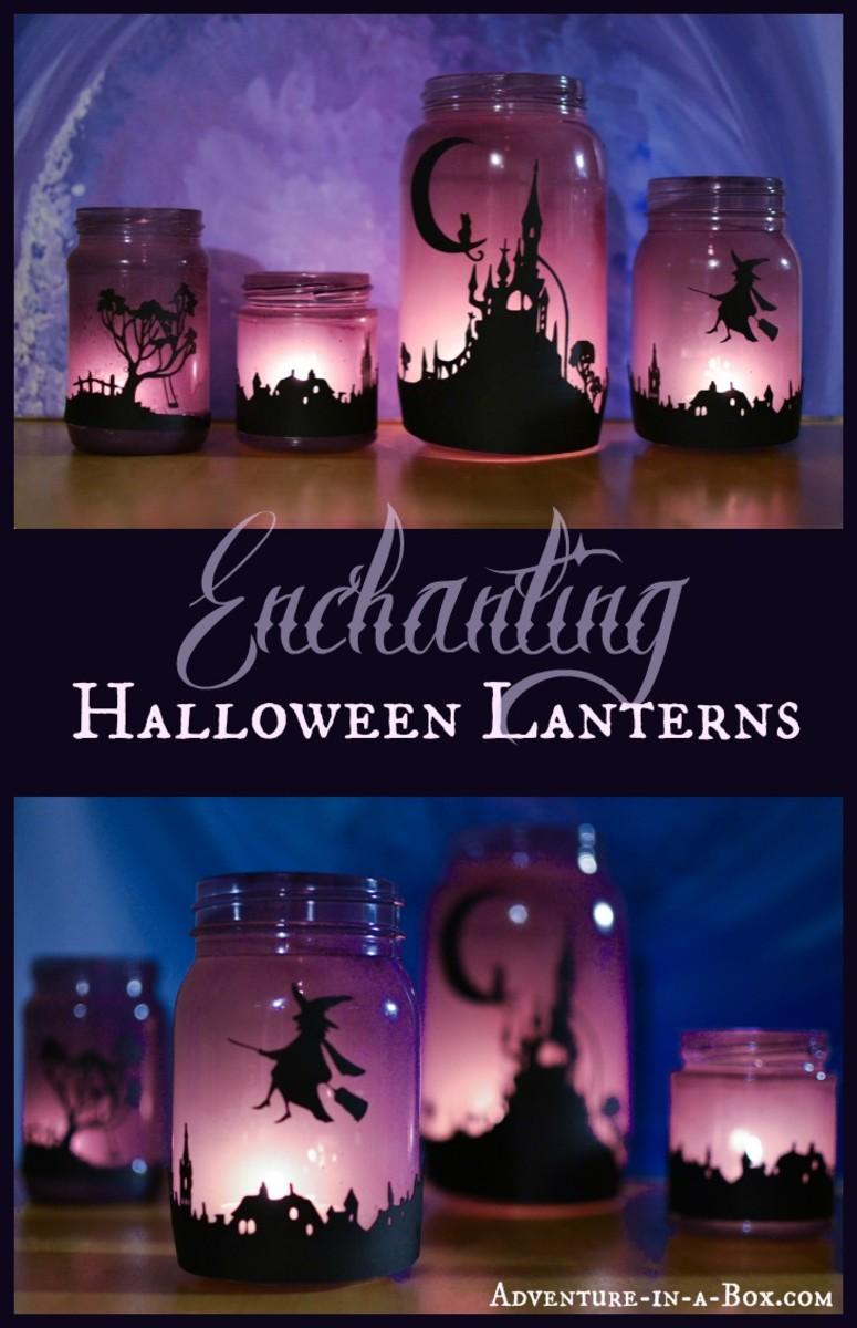 These beautiful, enchanted Halloween lanterns are a wonderful craft project for you to take on.  These are the perfect decorating accessory for a beautiful Halloween - everyone who loves witch crafts should have one of these magical lanterns