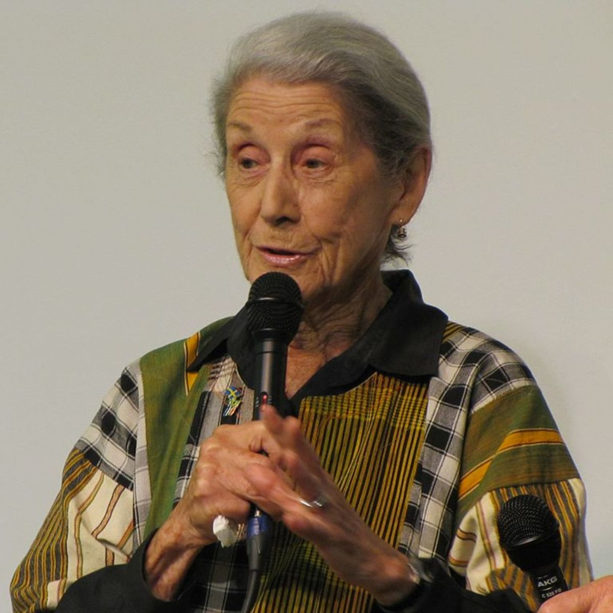 South African writer and political activist Nadine Gordimer at the Göteborg Book Fair 2010.