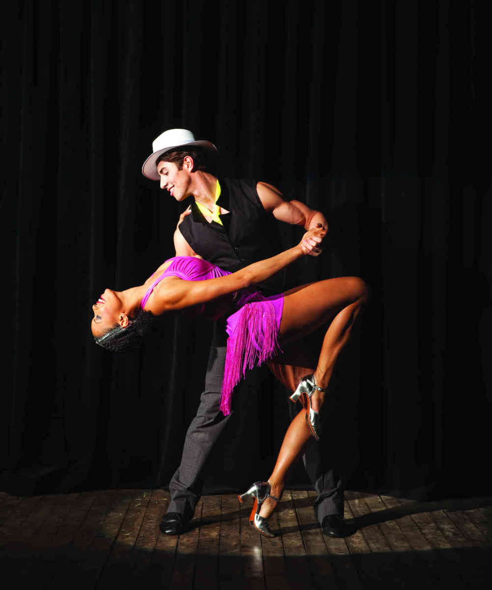 Dancing salsa with a beautiful woman will get you in shape!
