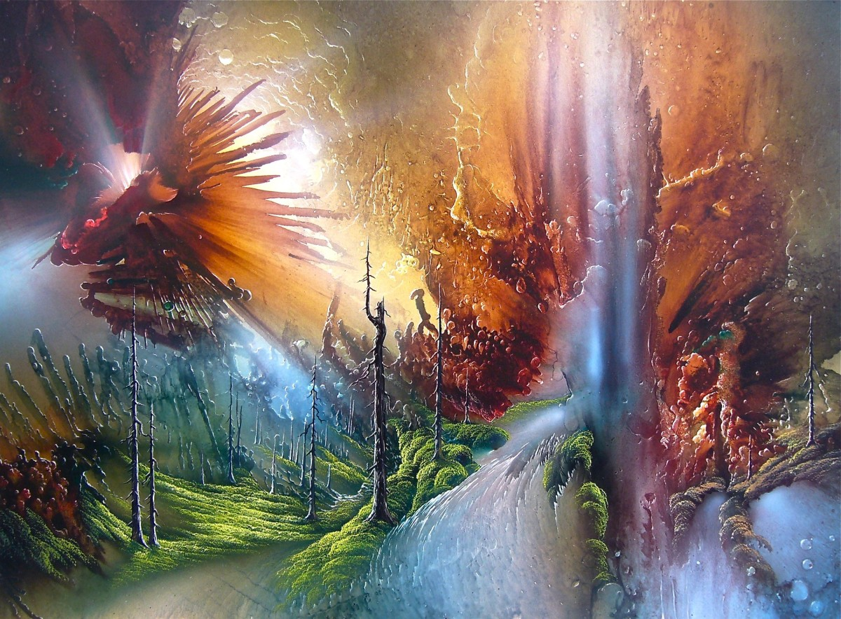 Having a problem with reality? Try painting a fantasy landscape.