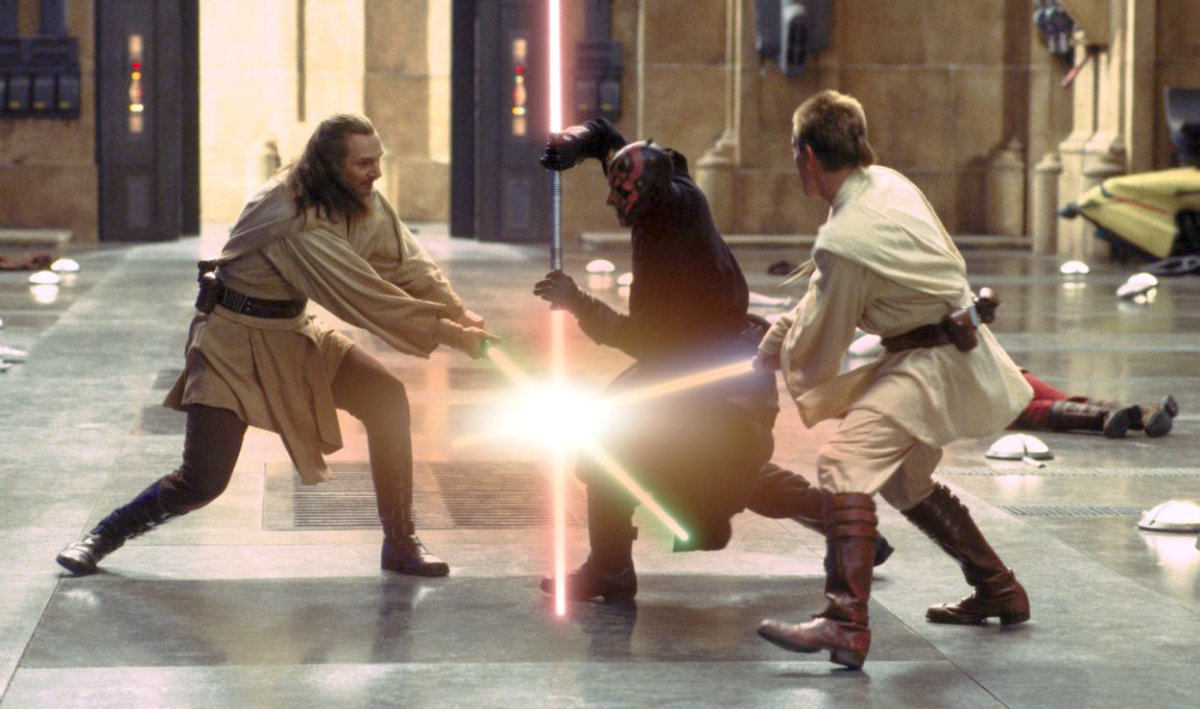 The Jedi in their prime, and yes, I LOVE fast paced lightsaber duels!