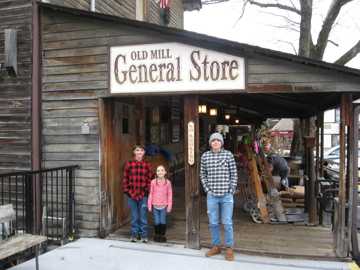 You can enjoy some unique shopping in Pigeon Forge, too.