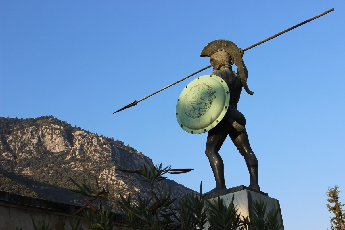 A Spartan Warrior. One of the 300.The Battle of Thermopylae was fought between an alliance of Greek city-states, led by King Leonidas of Sparta, and the Persian Empire of Xerxes I over the course of three days