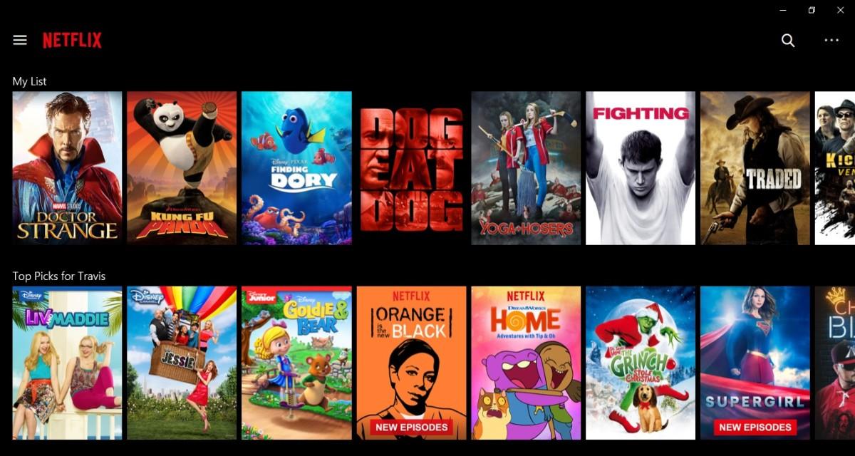 Launch the Netflix app.