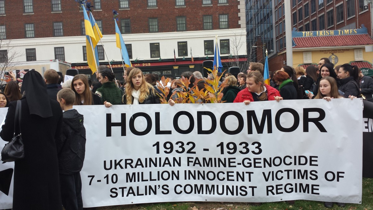 Ukrainians remembering Holodomor