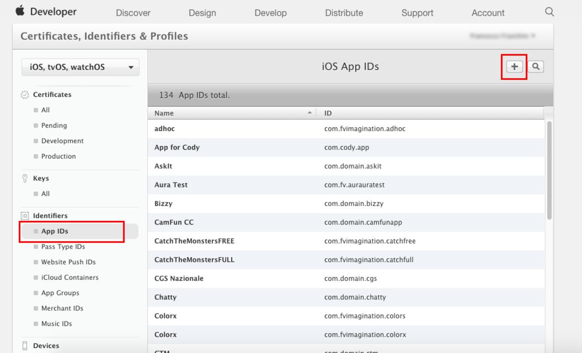 List of App IDs