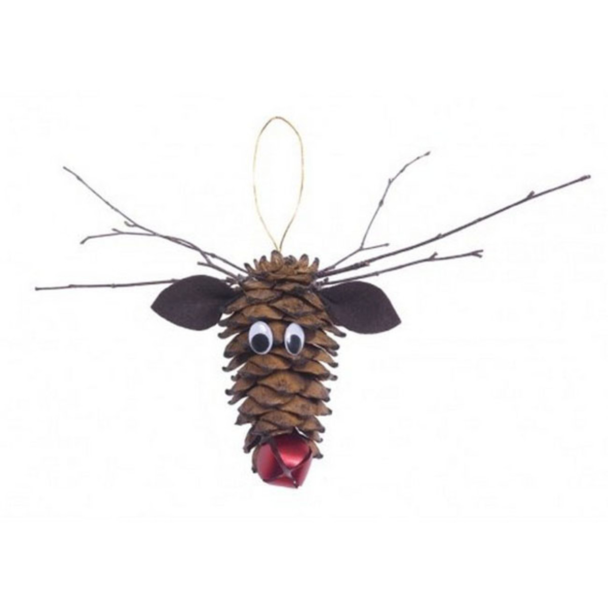 DIY Pine Cone Reindeer Ornaments