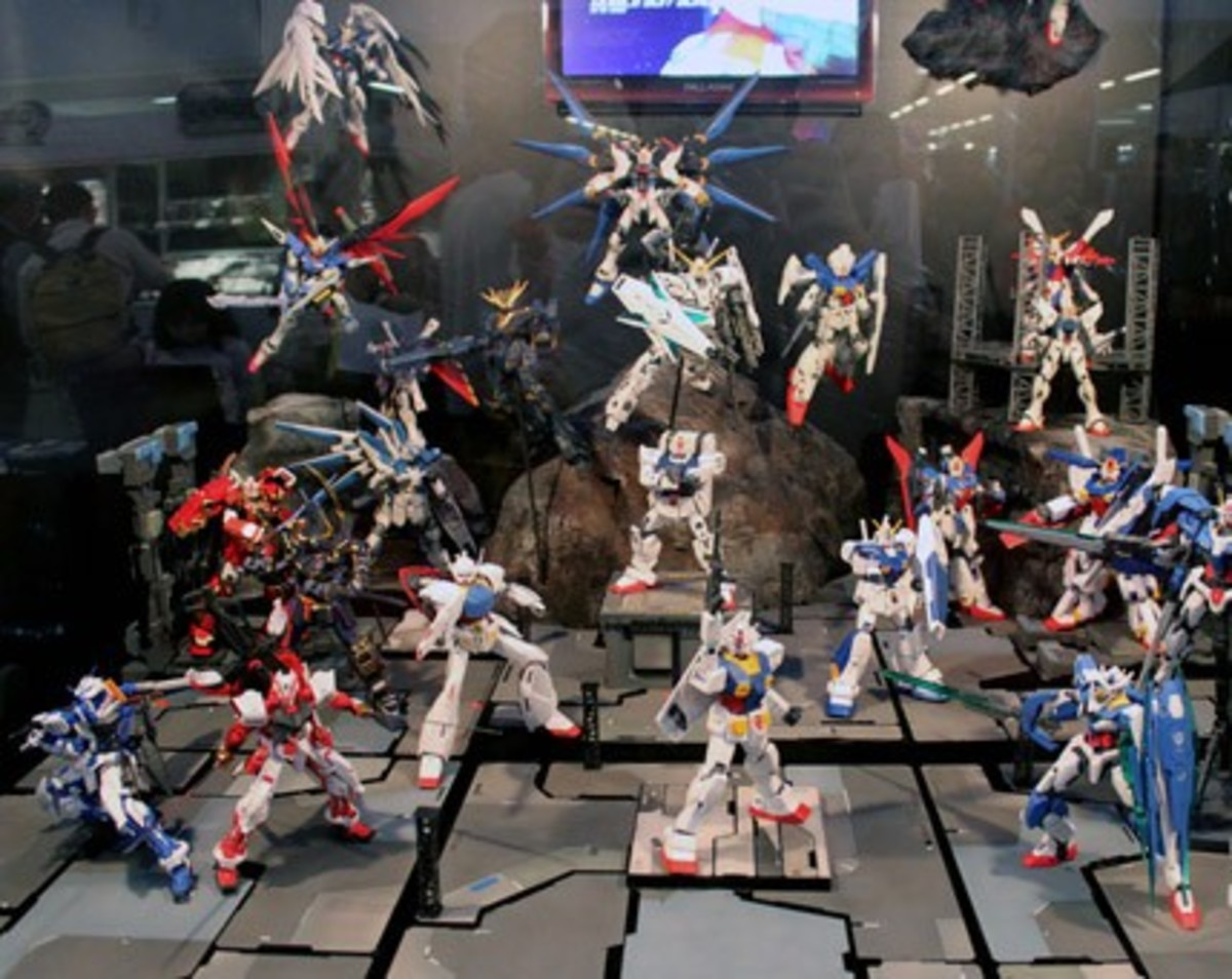 Gunplas in Gundam Expo