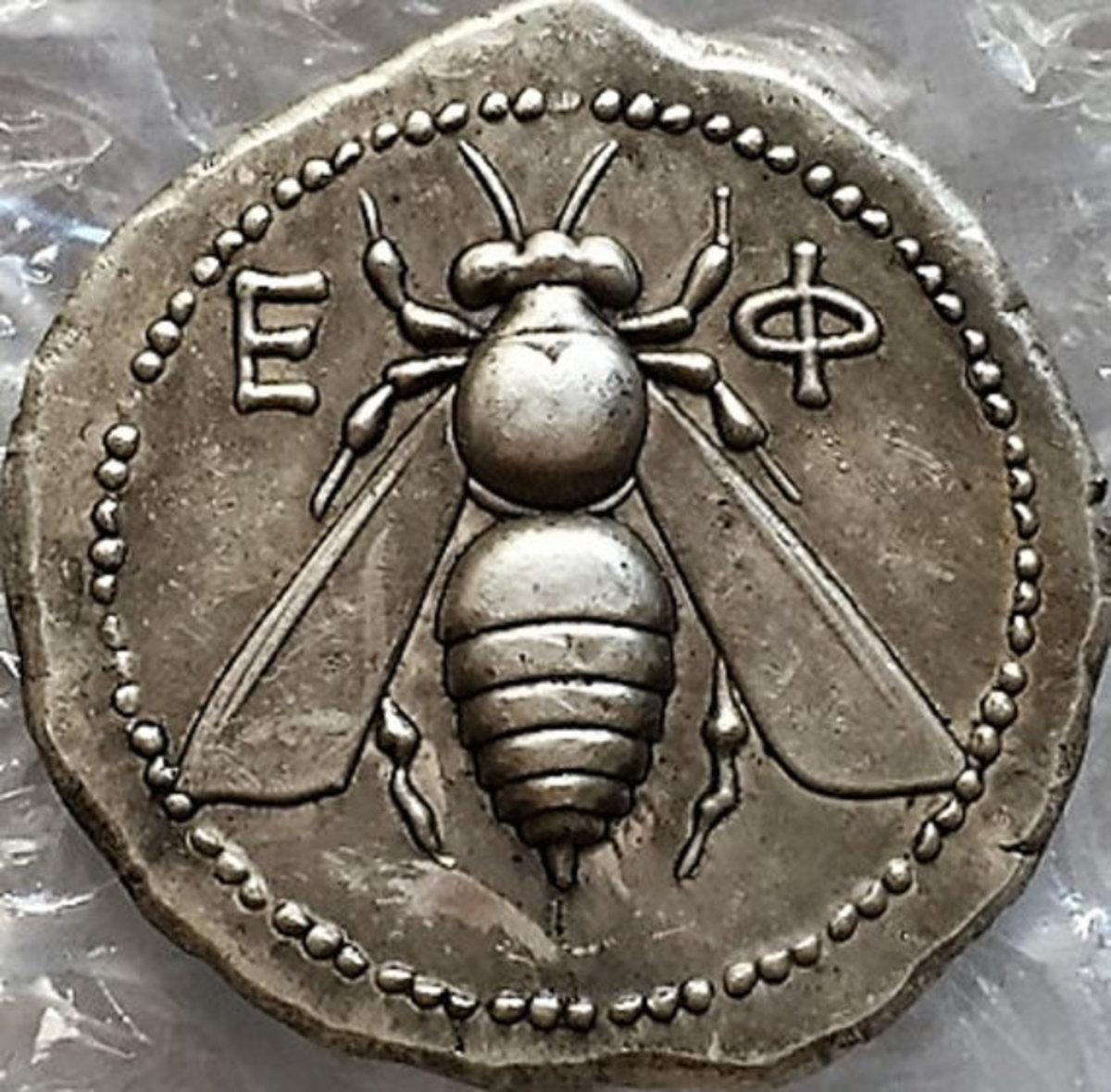 "Restrike of ""Bee, & Stag"" Coin of Ephesus"