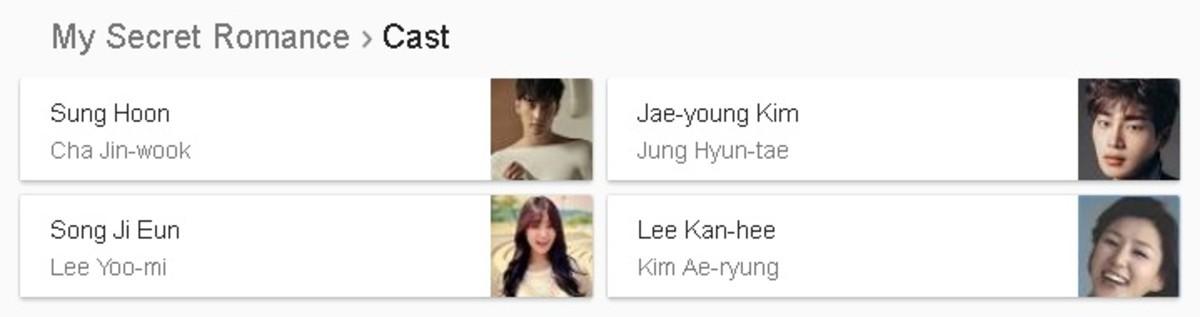 My Secret Romance Cast Korean Drama 2017