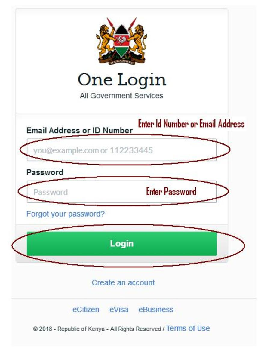 Log in Into Your eCitizen Account