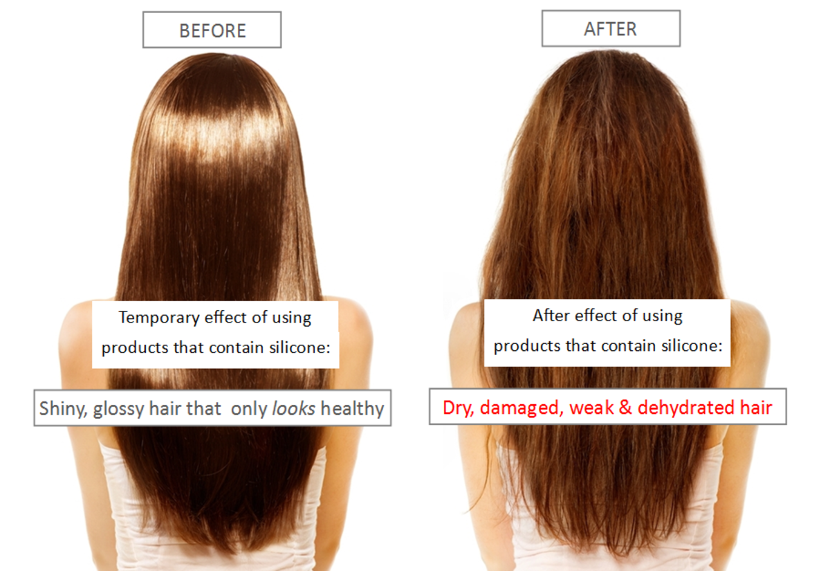The damaging effects of silicone in hair care products