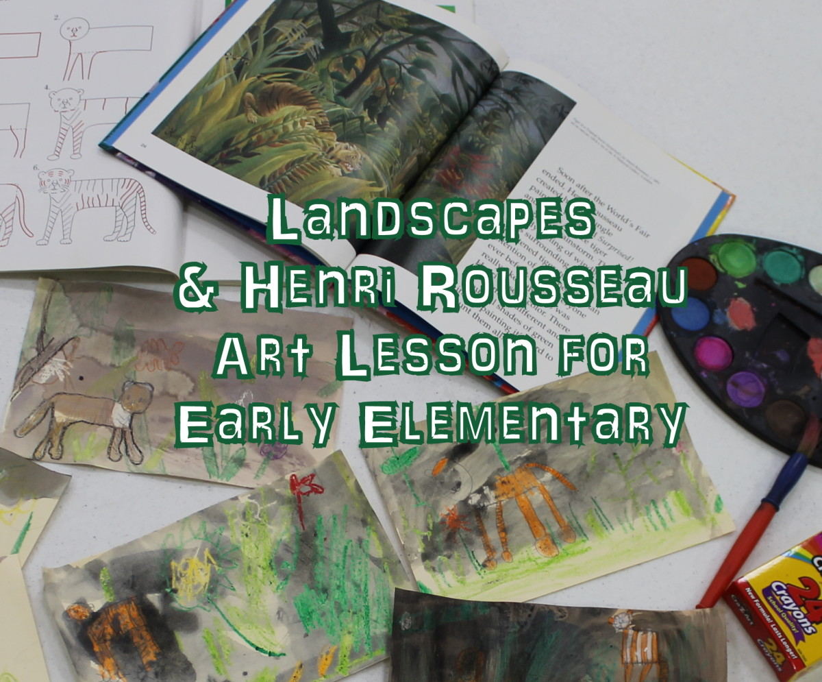 Landscape & Henri Rousseau Lesson for Early Elementary