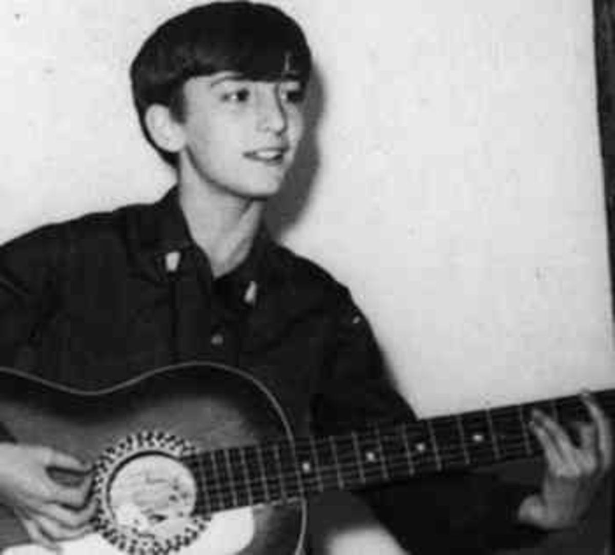 A young John Lennon.