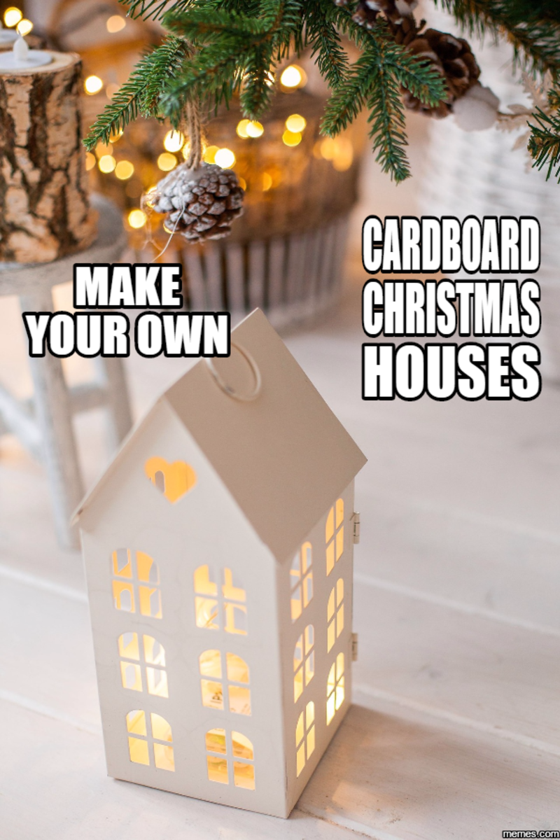 Make a Christmas Village from Cardboard